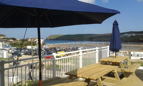 Dining on The Waterfront Terrace at Polzeath
